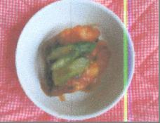 アスパラと鮭の甘酢炒め