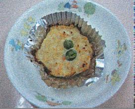お肉のカップケーキ