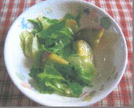 さつま芋のホットサラダ