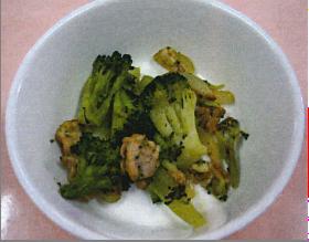 ブロッコリーと豚肉のカレー炒め