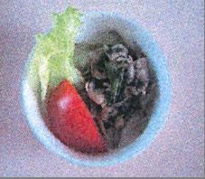 豚しゃぶとごぼうのソテーごまソース
