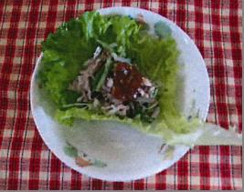 豚しゃぶの青菜包み